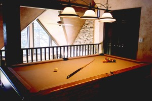 Billiard table also coverts to ping pong table for the gaming enthusiasts